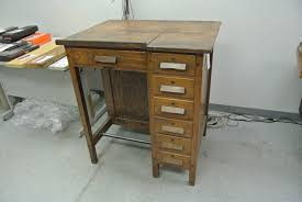 Old Drafting Table Vintage Drafting Table Antique Drafting Table With Adjustable Top