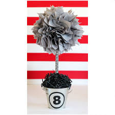 gray centerpiece graduation party centerpieces baby shower