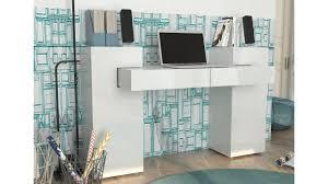 bureau design laqué blanc bureau design rosalia en blanc laqué un effet brillant original