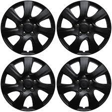 2009 hyundai elantra hubcaps 4 pc set of 16 matte black hub caps for oem steel wheel cover