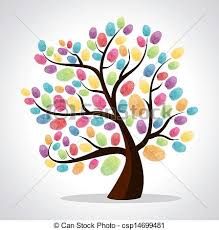 finger prints diversity tree diversity color tree finger vector