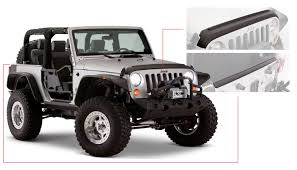 jeep body armor bumper jeep trail armor hood and tailgate protector set oe matte