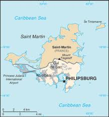 map of st martin map of st maarten in the caribbean
