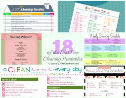 kitchen checklist for first home cleaning checklist printables u2013 18 awesome freebies