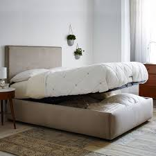 Queen Wood Bed Frame U2013 by Bed With Storage Grey Underbed Storage Bag Medium Size Of