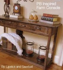 Long Entryway Table by Lipstick And Sawdust Pb Inspired Console Table