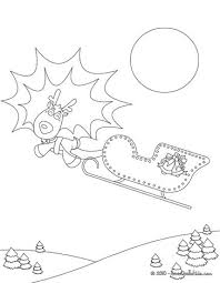 comet reindeers sleigh coloring pages hellokids