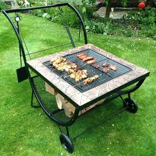 Bbq Firepit Pit Table Grill Pit Grill Table Diy Outdoor Pit Bbq