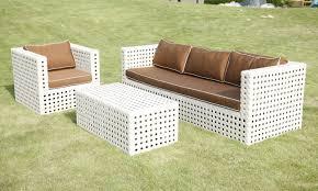 modern white wicker patio furniture pleasant white wicker patio
