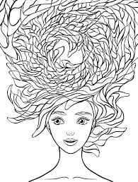 coloring page hair kids drawing and coloring pages marisa