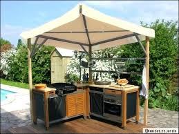 construire cuisine d été cuisine d ete en bois cuisine exterieure photo cuisine d ete