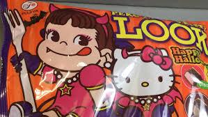 peko chan and hello kitty halloween chocolate in japan youtube