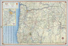 Oregon Maps by Shell Highway Map Of Oregon David Rumsey Historical Map Collection