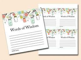 bridal shower words of wisdom words of wisdom bridal shower words of wisdom baby shower