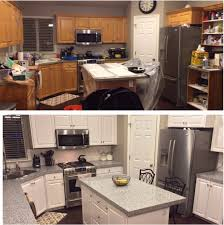 Mismatched Kitchen Cabinets Astonishing Design Painting Oak Kitchen Cabinets Before And After