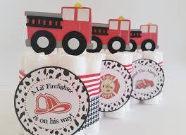 fireman baby shower center pieces firefighter mini diaper