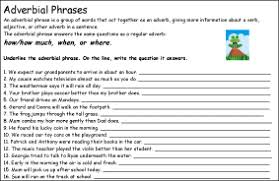 simple sentences question tags adjectival and adverbial phrases