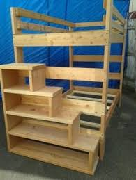 Free Bunk Bed With Stairs Building Plans by Free Woodworking Plans To Build A Full Sized Low Loft Bunk The