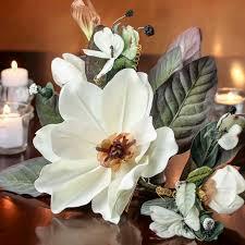 vintage inspired artificial magnolia swag