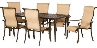 hanover 7 piece outdoor dining patio set brigantine7pc