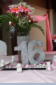 Sweet 16 Party Centerpieces For Tables by Sweet 16 Centerpiece Brittnay U0027s Sweet Sixteen Pinterest