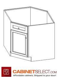 diagonal corner kitchen base cabinet an bdcf36 light grey shaker 36 1 door diagonal corner sink base cabinet
