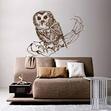 bird decorations for home owl wall decor for home room decals sticker vinyl bedroom art