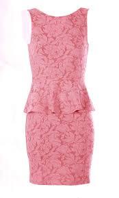 ss15 cristina pink lace peplum dress