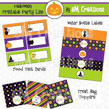 Happy Halloween Banner Printable 5m Creations Trick Or Treat Halloween Party Printable Package