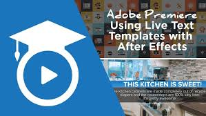 how to use the new after effects live text templates inside of