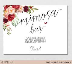 mimosa brunch invitations mimosa bar sign brunch and bubbly bar signage chagne juice