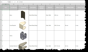 Bom Template Excel Bom Tools Pro Inventor Autodesk App Store