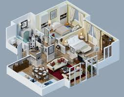 fancy house floor plans designs shown with rendered 3d floor plans