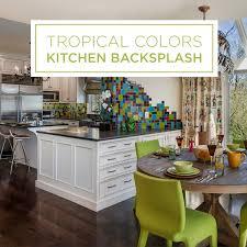 kitchen backsplash colors tropical colors in a kitchen backsplash handmade ceramic tile