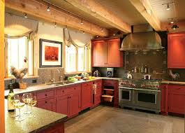 Rustic Kitchen Cabinet Designs Rustic Red Kitchen Cabinets Surprising Design 4 Cabinet Ideas