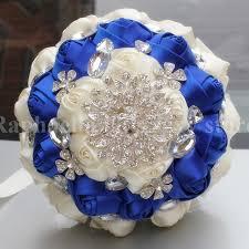 wedding flowers royal blue aliexpress buy high quality bridal royal blue satin