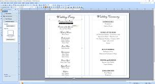 program template for wedding wedding program back templates wedding programs fast