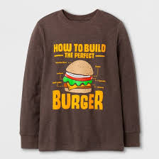 build a clothes for boys boys sleeve burger graphic t shirt cat brown target