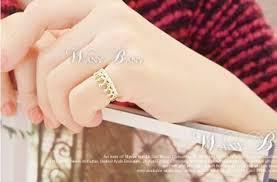 jewelry rings ebay images Korean fashion golden tone ring rhinestone crystal crown ring jpg