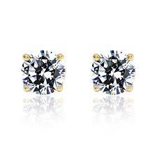 diamond stud sizes accent diamond studs solid 14k yellow gold