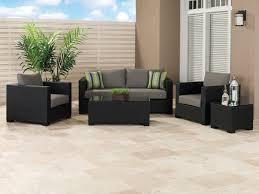 Black Outdoor Furniture by Black Wicker Patio Set Home Decor Ideas