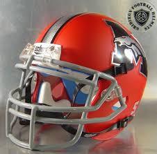 mustang broncos football high mini football helmets