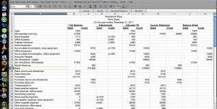 cash flow statement worksheet income statement worksheet