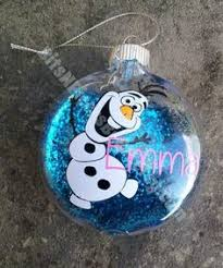2014 frozen olaf handmade glass hanging ornament