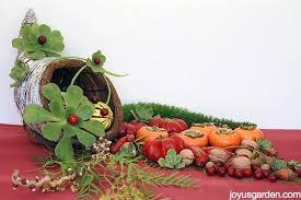 a succulent adorned cornucopia with a twist