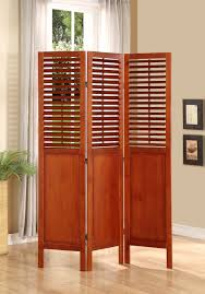 Shutter Room Divider Room Divider 3 Panel Solid Wood With Shutters On Top Half Walnut