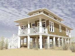 duplex beach house plans pleasurable 2 beach house plans with pilings coastal home the plan