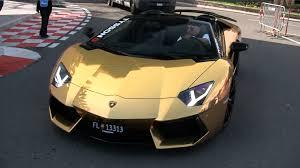 lamborghini golden gold lamborghini aventador roadster youtube