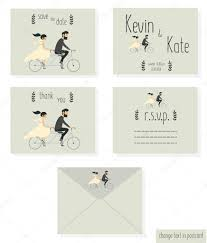 wedding couple on bicycle u2014 stock vector hozeeva darina gmail