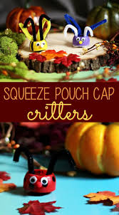 applesauce squeeze pouch cap critters craft cap and kid activities